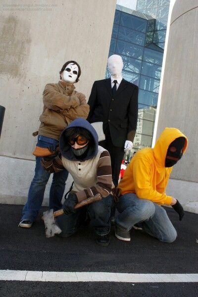 Creepypasta Cosplay: Masky, Slenderman, Ticci Toby and Hoodie
