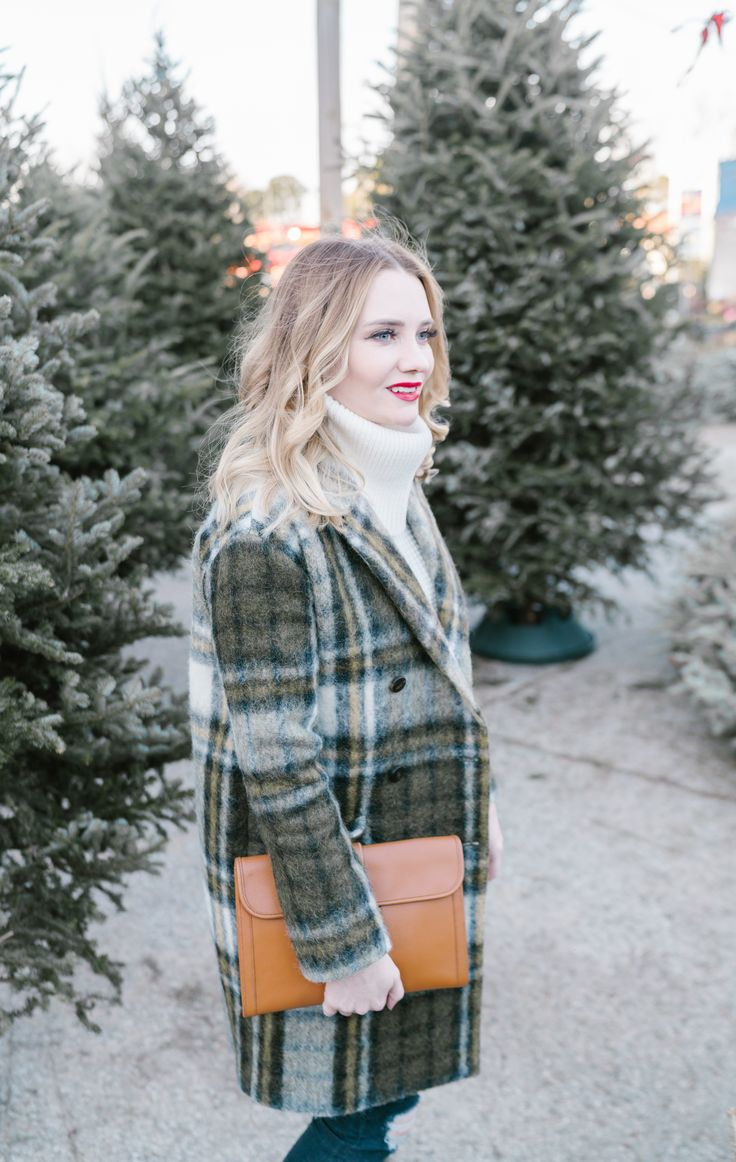 Plaid Coat Outfit | Pretty in Pink Megan