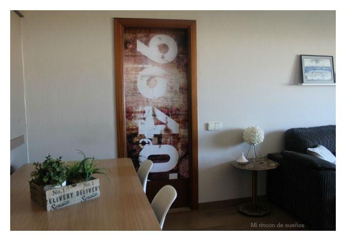 MI RINCÓN DE SUEÑOS: Decorar una puerta con vinilo