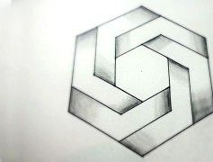 How To Draw Impossible Hexagon – 3D Optical Illusions