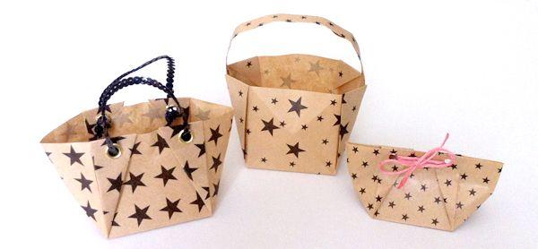 Hogyan készítsünk origami Tote Bag | origami | papír kiegészítők és csomagolás