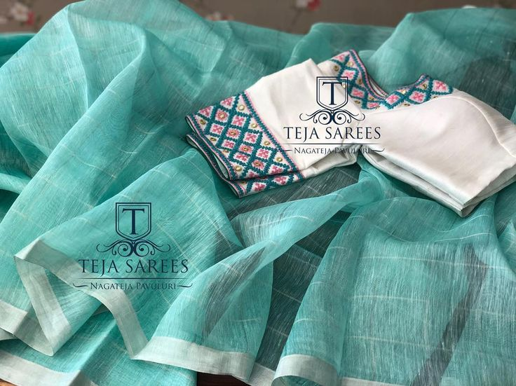 """2,149 Likes, 61 Comments - Teja Sarees (@tejasarees) on Instagram: """"TS-SR-406 Sold Linen silver checks saree with a contrast worked blouse For orders/queries Call/…"""""""