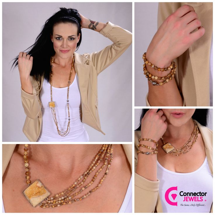 Raw = beauty = Connector jewels versatility and uniqueness