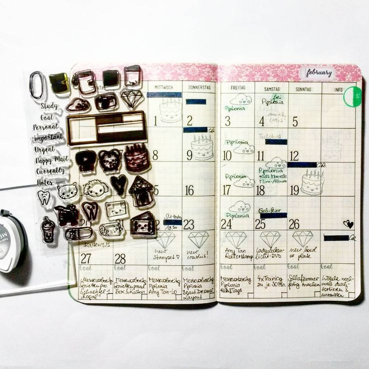 #planwithmechallenge jan25 This is my february monthly page and my most loved planner stampset from #thesassyclub @sandraspitaleri . Go check her out, her stampsets are too cute to not using them every month again and again!!!