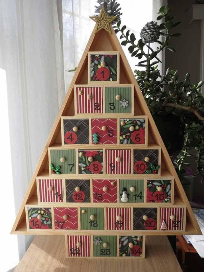 Wooden Christmas Tree Advent Calendar Christmas Tree