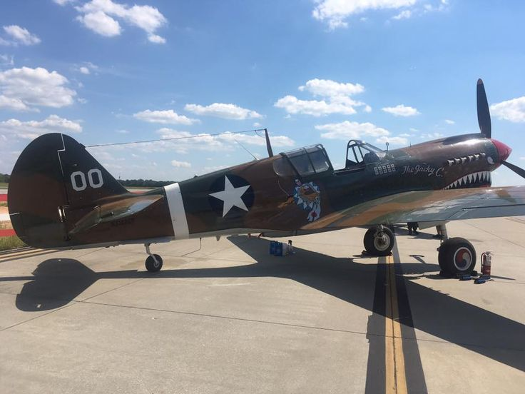 Atlanta warbird weekend. Commemorative Air Force P-40N  The Jacky C ... & 221 best Curtiss P-40 Warhawk images on Pinterest   The ou0027jays ... markmcfarlin.com
