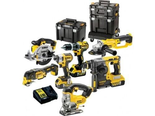 DeWalt DCK654P3T 18v XR Cordless 6 Piece Power Tool Kit includes 3x 5.0Ah Batteries  DEWALT DCK654P3T 18V 6 PIECE KIT WITH 3X 5.0AH LI-ION BATTERIES IN 3 TSTAK CASES + ROLLING CARRIER