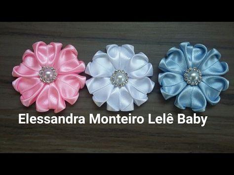 DIY:Flor RN (Colada)Fita N 5/2.0|Elessandra Monteiro Lelê Baby
