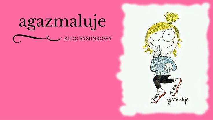 różowy, akwarela, na palcach, po cichu, agazmaluje, blog rysunkowy, rysunek, ilustracja