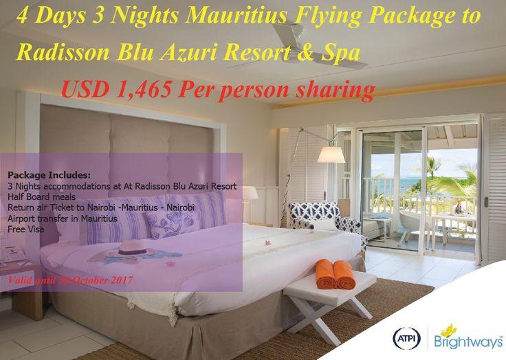 Brightways Travels » 4 Days Mauritius Holiday Package to Radisson Blu Azuri Resort and Spa