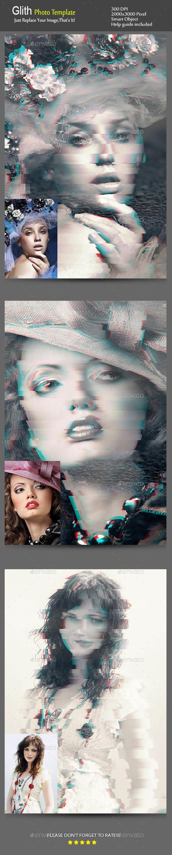 Glitch #Photo #Template - Photo Templates Graphics