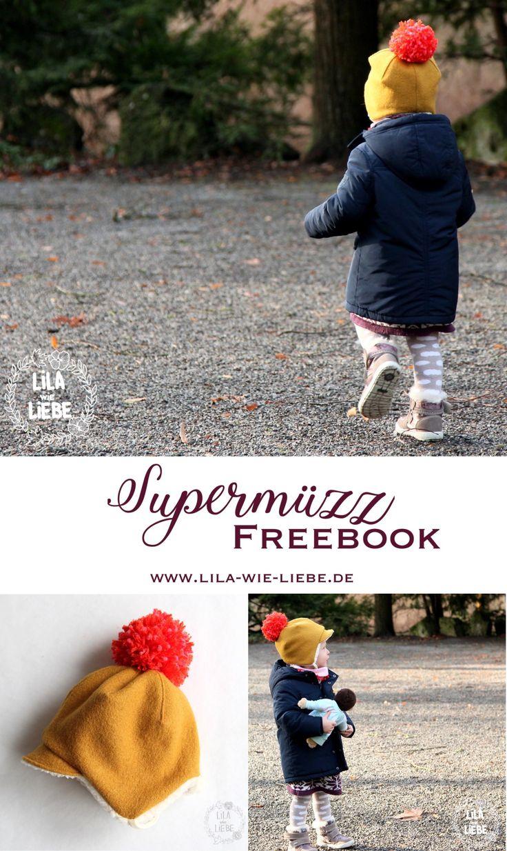 warme Kindermütze - einfach und schnell genäht - Wendemütze - mit Schirm, Bändeln und mit dem besten Bändelverschluss der Welt - 1A Passform!