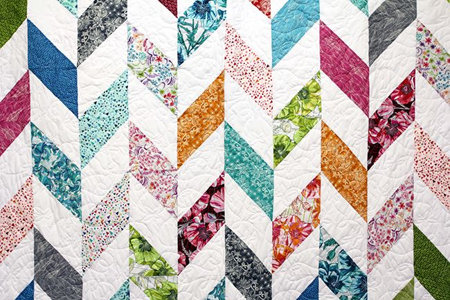 Herringbone video quilt tutorial from Missouri Star Quilt Company