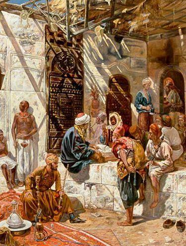 Ferencz Franz Eisenhut: Escena en un bazar oriental.