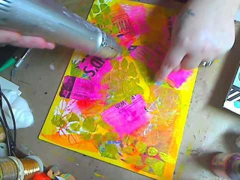Beginners Mixed Media Painting Part 2 - YouTube