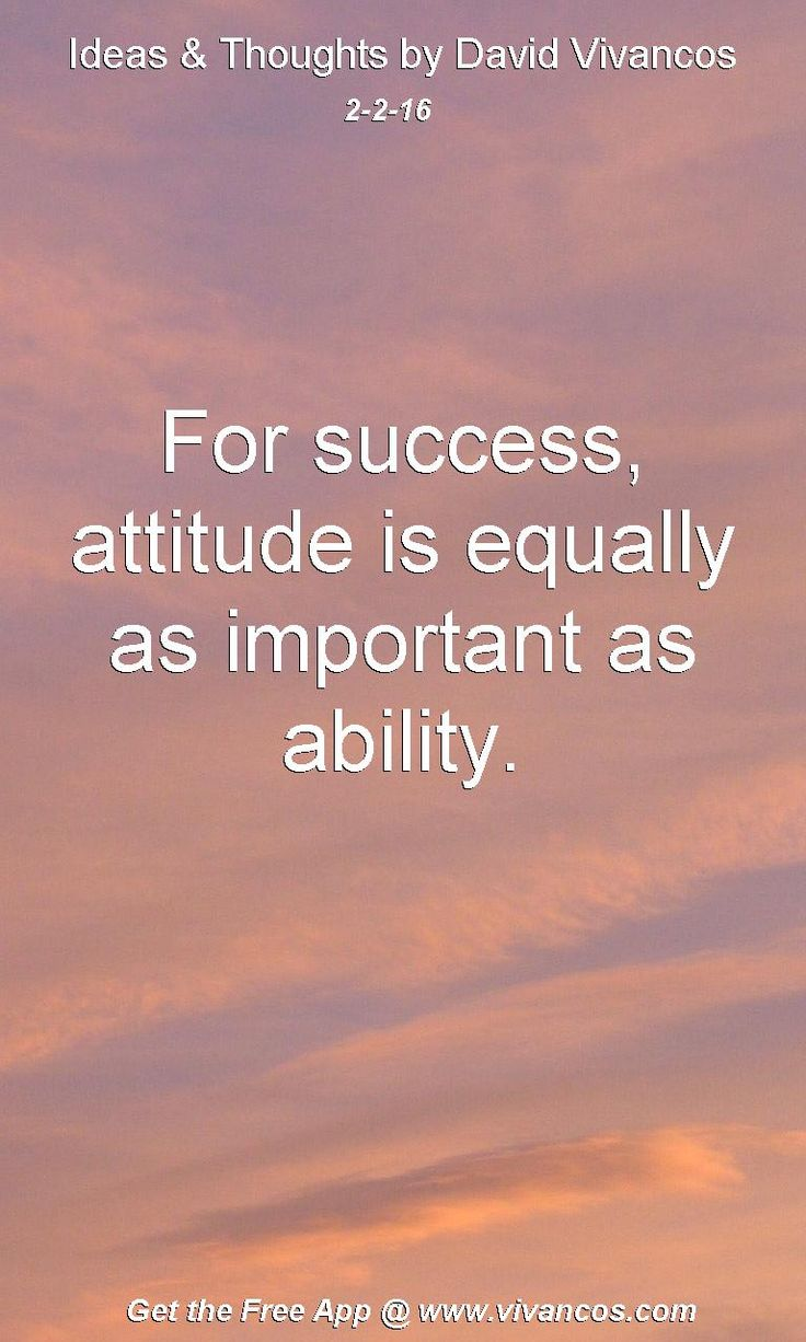 For success, attitude is equally as important as ability. [February 2nd 2016] https://www.youtube.com/watch?v=e3A02EAgWfw