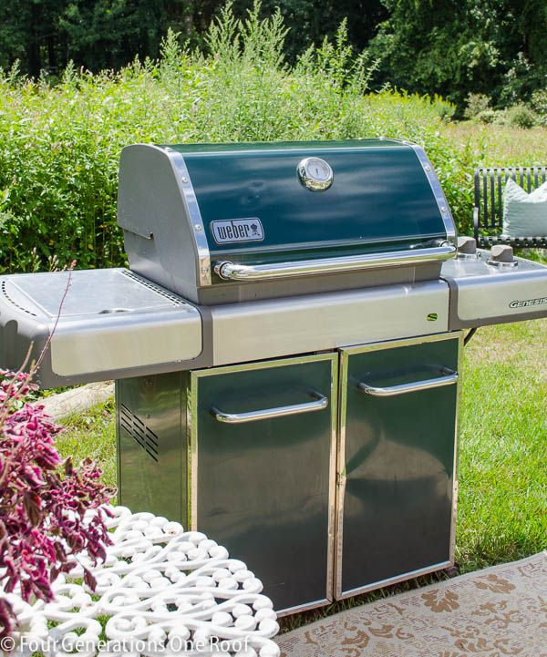 How do I clean a stainless steel BBQ grill?