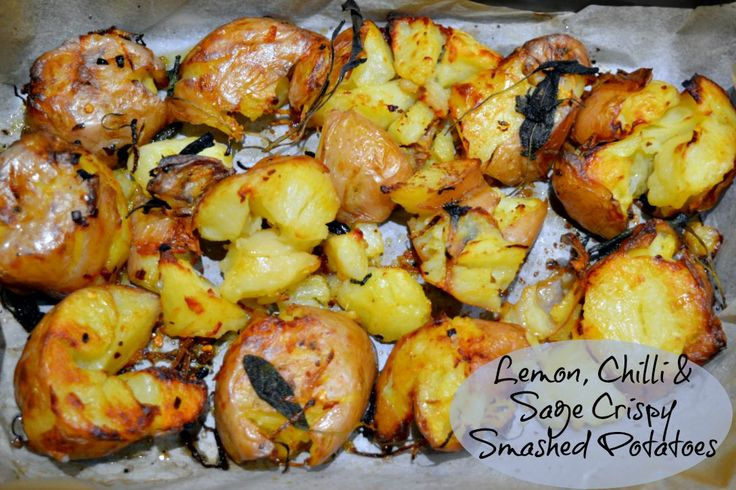 Lemon, Chilli Crispy Smashed Potatoes