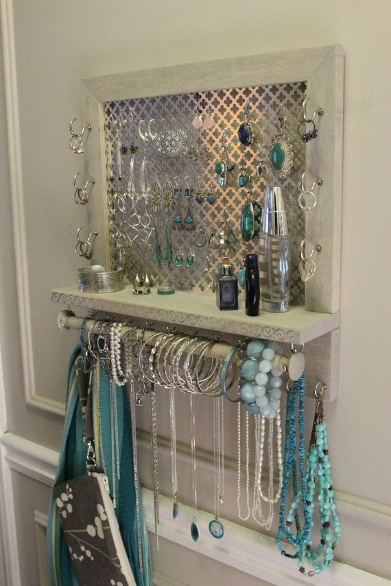 You Pick, Clover Mesh Series Wall Mounted Jewelry Organizer, Wall Organizer, Jewelry Display, Necklace Holder, Earring Organizer