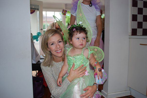 Milla and mum on her 2nd bday party