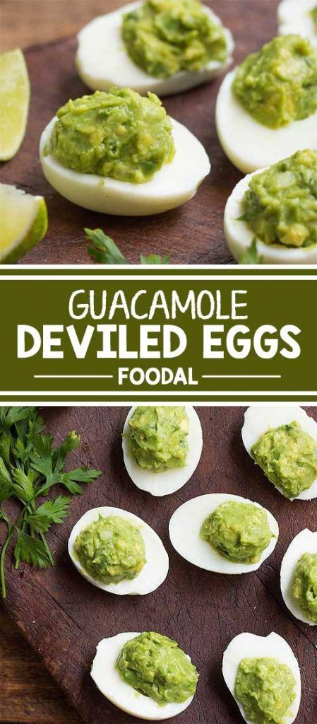 Take the classic deviled eggs up a notch by making this healthier option instead. Fill the eggs with homemade guacamole, and serve them at your next cocktail party. These look absolutely elegant, are so easy to make and serve, and will wow your guests. Re