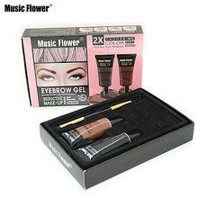 Music Flower Brand 2 Color Eyebrow Cream Mascara Gel Waterproof Eye Brow Gel Pro Beauty Makeup Eyebrow Enhancer With Brush alishoppbrasil