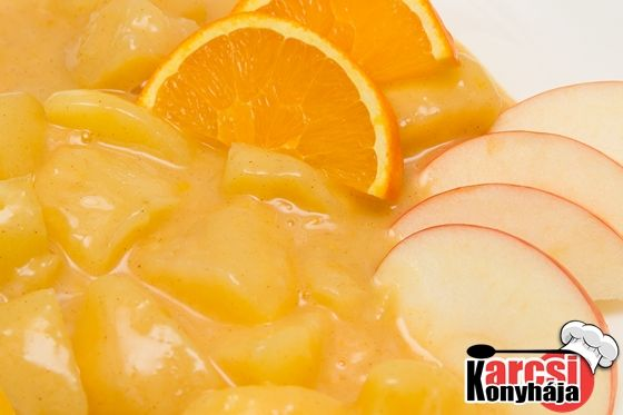 Narancsos almaszósz - Karcsi konyhája