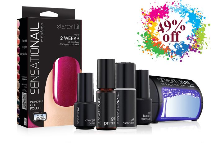Starter Kit Special, Deluxe Raspberry Wine Sensationail Starter Kit Gift Pack £49.99 Instead Of £69.99 At Sensationail Added Saturday 26th October 2013, Expires Monday 28th October 2013 From 5pm Friday (25/10/13) to 5pm Monday (28/10/13) this SensatioNail starter kit will be available for just £49.99 http://www.vouchercodesuae.com/sensationail.co.uk