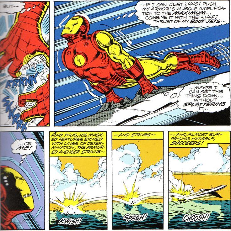 Page from Iron Man #120 by John Romita Jr.