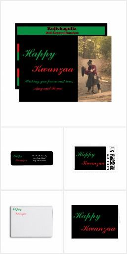 A collection of elegant items Kwanzaa themed items
