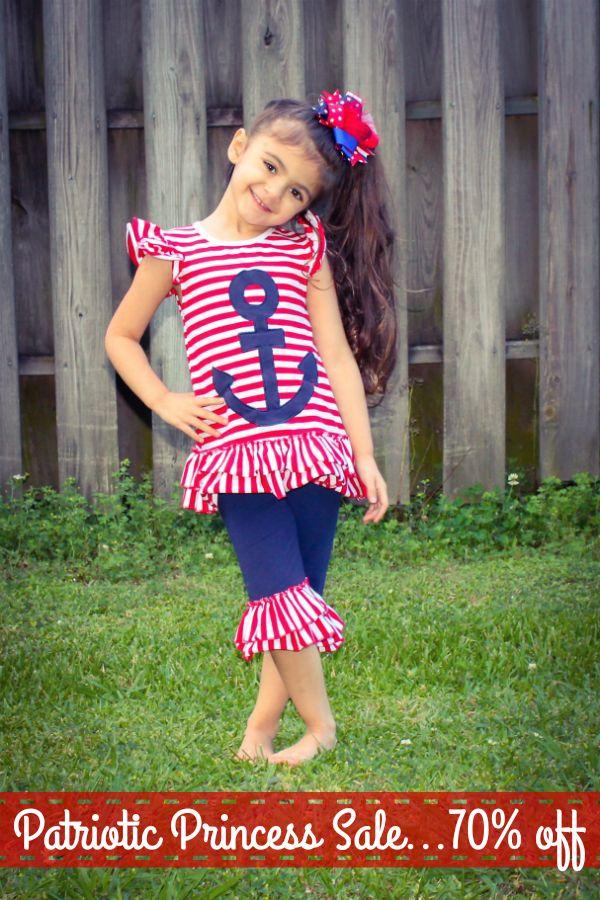 Patriotic Princess Set:  Preorder this adorable outfit now for July 4th and snag it for just $13.50 with a share!