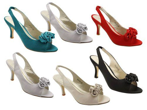 formal shoes for weddings in medium heel   Wedding Bridesmaid Party Shoes Prom Sandals In Black With Medium Heels ...