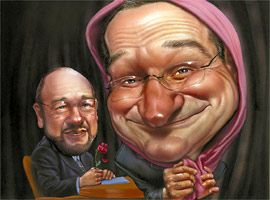 Inside the Actor's Studio Illustration by Mark Fredrickson.....Robin Williams and James Lipton