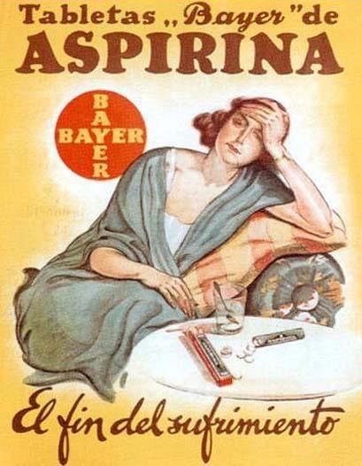 Aspirina, el fin del sufrimiento
