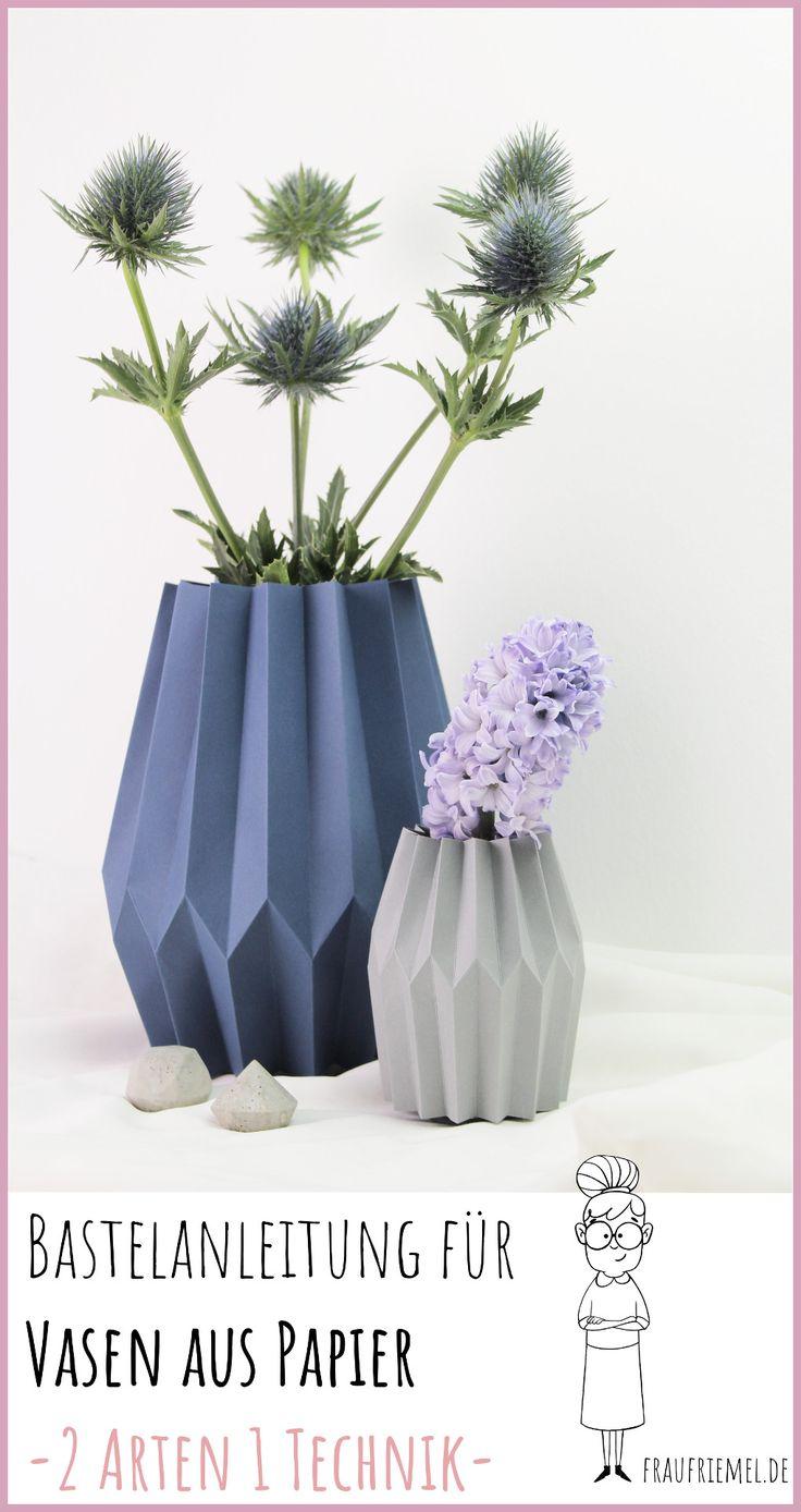Floreros de papel DIY: perfectos para la primavera   – selber machen