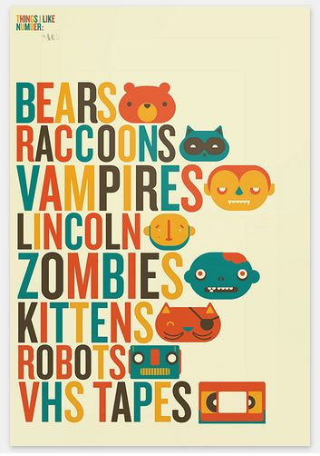 Monsters and Robots all in 1 poster.