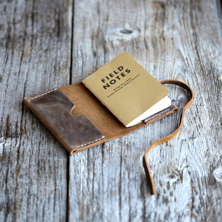 The Hemingway is a simple, rugged cover for the popular Field Notes notebook. Made from thick, six ounce oil tanned leather that is struck through (the dye penetrates to the core of the leather), The