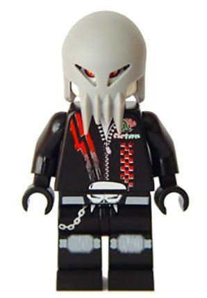 Skull Twin - LEGO Space Police Minifigure by LEGO. $33.88. Two sided head with Skull Masks. Released in 2009. A Skull Twin is one of two alien criminals from the Space Police III line (together they are known as the Skull Twins). They appear to be white skinned aliens wearing skull masks of some kind. Each twin's head had a two-sided face. One side has two eyes and the other side has three eyes, one on his forehead. The Skull Twins drive a Skull Interceptor. They...