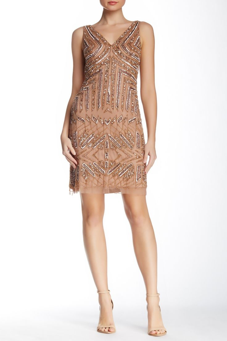 Adrianna papell short beaded dress shorts nordstrom for Nordstrom short wedding dresses