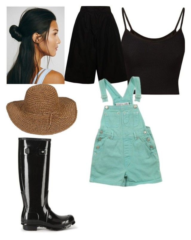 """Farmers outfit"" by instantbueaty2218 ❤ liked on Polyvore featuring Jil Sander, Free People and Hunter"