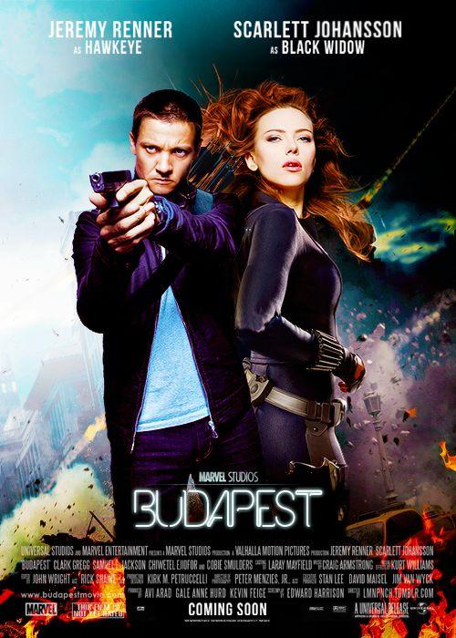 Budapest - Black Widow/Hawkeye #fanart