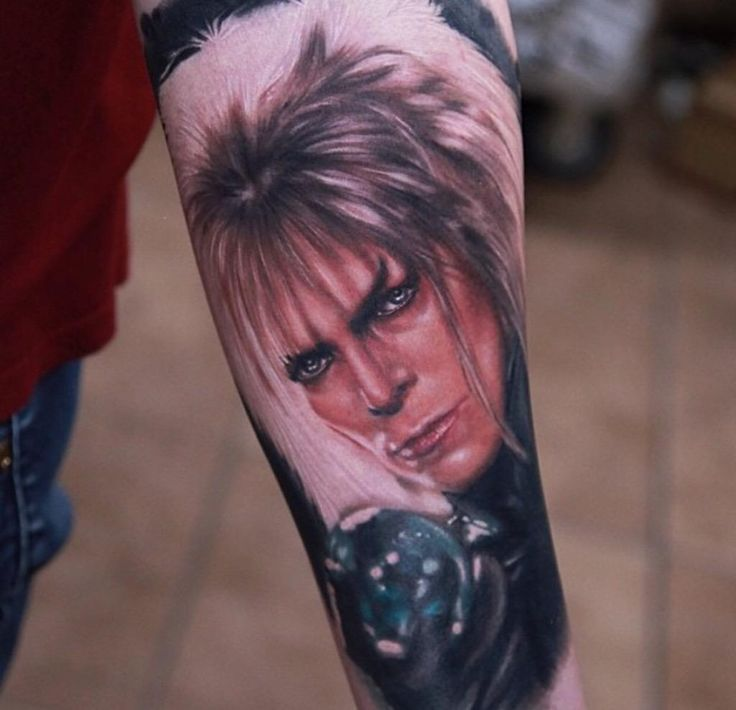 David Bowie as Jareth from Labyrinth tattoo I did a while back. Sorry, I'm new to Twitter, so bare with me.