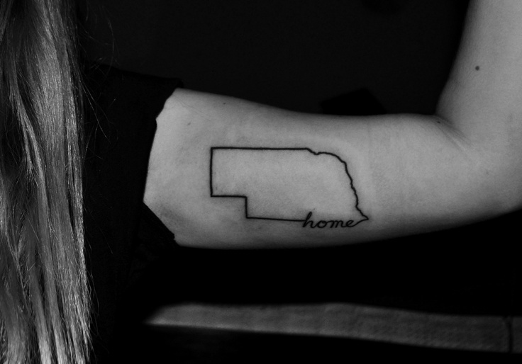 this nebraska tattoo is simple and sweet, which is the way it is around these parts. <3 I miss home!