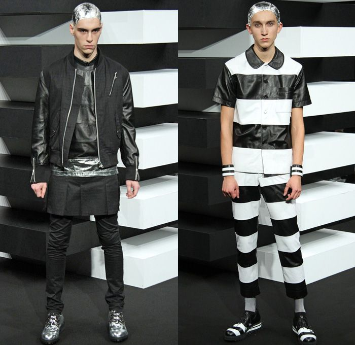 Mercedes Benz Leather Jacket: 99%IS- By Bajowoo 2014 Spring Summer Mens Runway