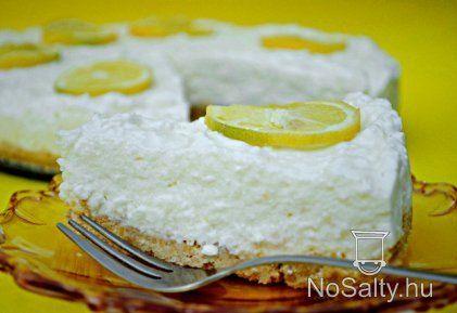 Sütés nélküli citromtorta vaj, háztartási keksz, túró, tejszín, zselatin, citromlé, édszer