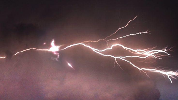Stunning UFOs hit by Lightning! Multiple UFOs destroyed & Spy UFO captur...