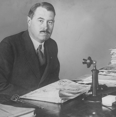 Robert McCormick at his Tribune Company desk, undated