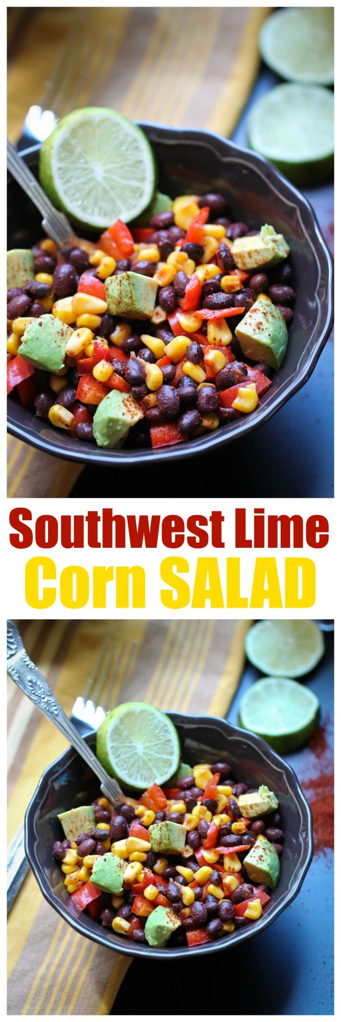 8 Ingredient Southwest Lime Corn Salad! | http://thevegan8.com