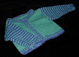 mavi yeşil örgü kışlık çocuk hırkası modeli