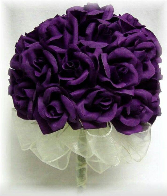 Wedding Bouquets Dark Purple: Yesss stunning dark royal purple ...